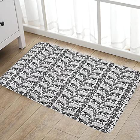 Amazon Com Elephant Door Mat Indoors Bohemian Tribal Patterns