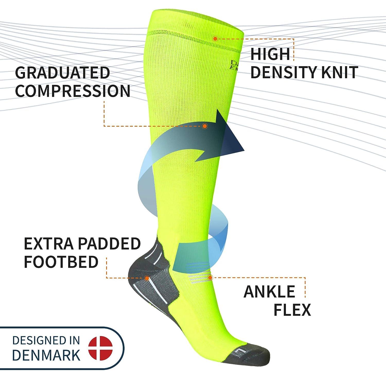 Shin Splints Running Sports DANISH ENDURANCE 2 or 1 Pack Graduated Compression Socks for Men /& Women Nurses Boost Performance Travel Pregnancy Flight Circulation /& Recovery