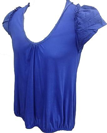 Atmosphere - Camiseta de tirantes para mujer, talla 8, diseño de lunares, color azul Azul azul 36: Amazon.es: Ropa y accesorios