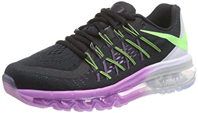 c308234b574ac2 Nike Damen Air Max 2015 Laufschuhe Schwarz (Black Flash Lime-White-Fuchsia