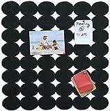 Marine Pearl (1.5 X 1.5 Feet) Designer Pin Board / Wall Hanging / Photo Display / Key Holder -(Oval Black)