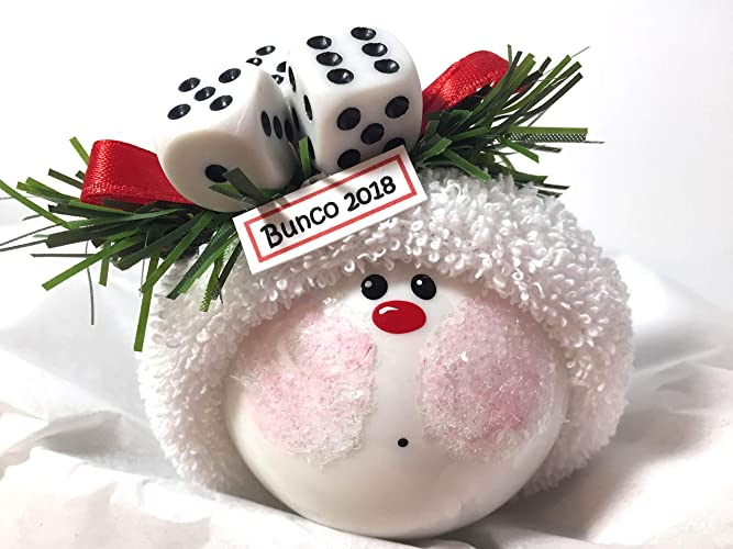 Bunko Bunco Christmas Gift Ornaments Personalized Dice Game Hand Painted  Handmade and Themed by Townsend Custom - Amazon.com: Bunko Bunco Christmas Gift Ornaments Personalized Dice