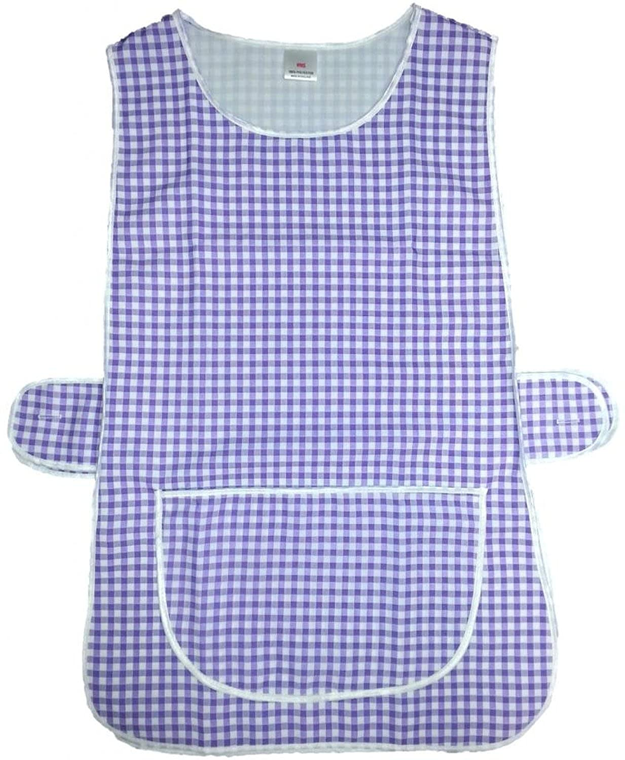White tabard apron - Hduk Top Quality Gingham Check Home Work Tabard Apron With Large Front Pocket White
