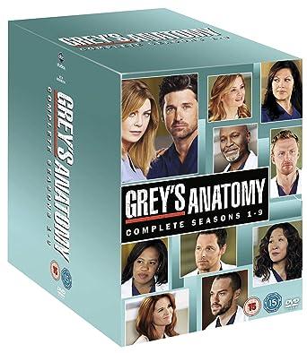 Amazon Greys Anatomy Complete Seasons 1 9 54 Dvd Box Set