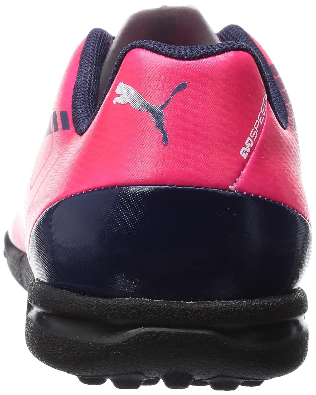 Puma evoSPEED 5.3 TT, Scarpe da calcio uomo Viola/lime/Blu, Rosso (Rosso (bright plasma-white-peacoat 05)), 40