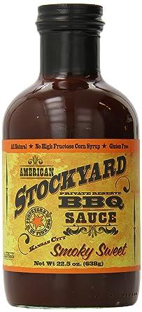 Salsa BBQ American Stockyard KC Smoky Sweet (Dulce ahumado) - 638g (22.5 oz