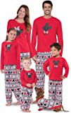 PajamaGram Mickey Mouse and Minnie Mouse Matching Family Pajamas, Red