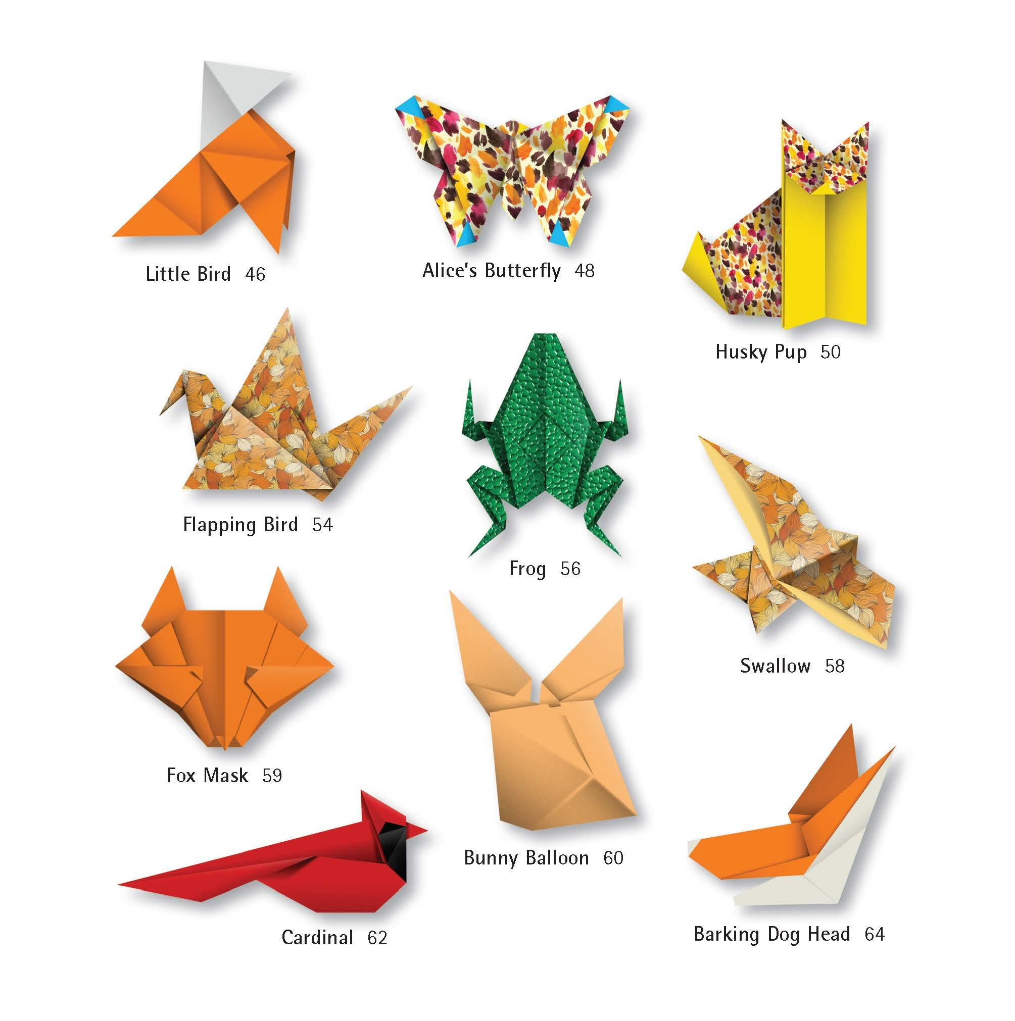 Amazon origami animals kit make colorful and easy origami amazon origami animals kit make colorful and easy origami animals kit includes origami book 98 high quality papers and 21 original projects jeuxipadfo Images