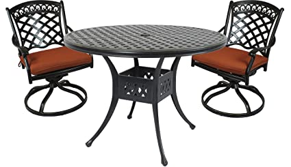 Amazon Com St Tropez 3 Piece Cast Aluminum Bistro Set With 42