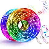32.8FT Smart WiFi LED Strip Lights Works with Alexa and Google Home, Colorful RGB LED Light Strip, Music Sync LED Strip…
