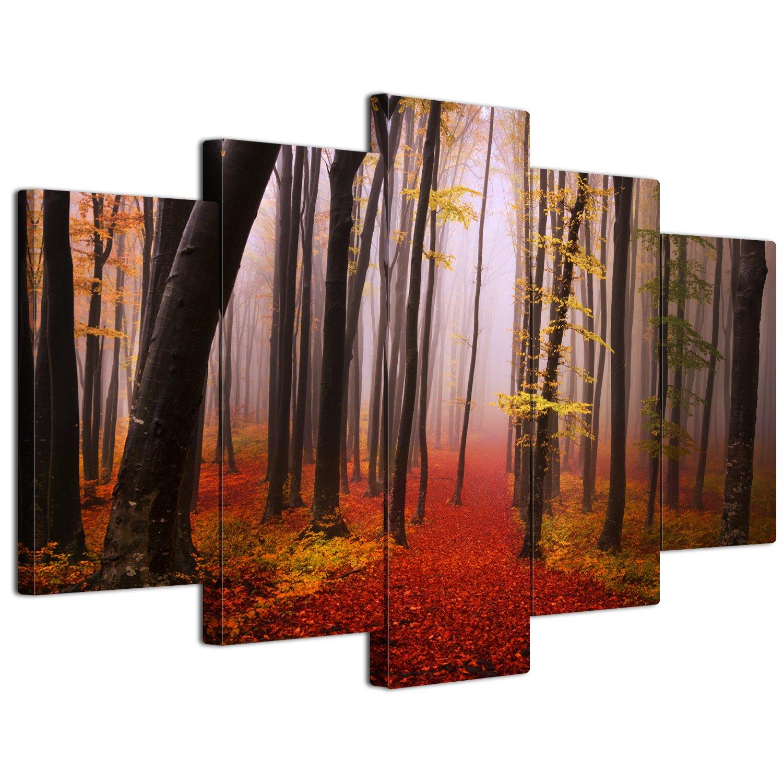 【リブラLibra】 5パネルセット アートパネル インテリアアート「林森」 キャンバス絵画 (木枠付きの完成品) (L, LP1714) B075SSP3GN Large|LP1714 LP1714 Large
