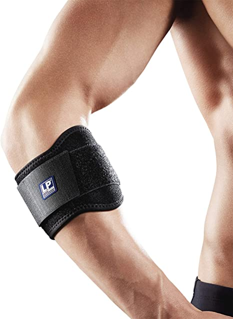 Lp Support 751 Km Tennis Elbow Brace With Tennis Elbow Clasp For Golf Elbow Brace Sport Bandage Elbow Brace Sizes One Size Colour 1 X Black Amazon Co Uk Health Personal Care