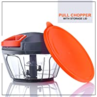 Artikel™ Pull Chopper with Storage Lid | Chops Vegetables, Nuts & Fruits | Meat Mincer |