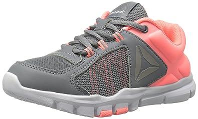 Reebok Baby Yourflex Train 9.0 Sneaker, Flint Grey/Sour Melon/Pew, 1