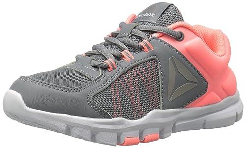 c4cce0913 Reebok Baby Yourflex Train 9.0 Sneaker, Flint Grey/Sour Melon/PEW, 5
