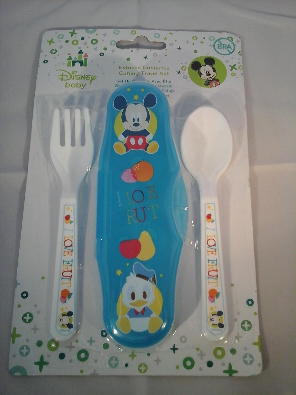 Winnie The Pooh - Estuche Cubiertos Disney Baby Mickey Microondas azul: Amazon.es: Bebé