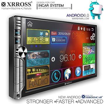 Coche Audio Video Reproductor de radio GPS Sistema de navegación Android 6.0 doble DIN 7 pulgadas