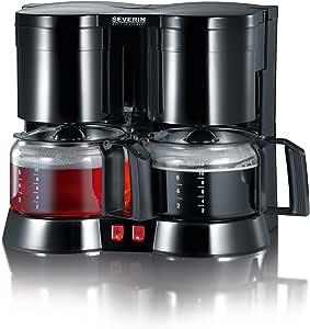 SEVERIN KA 5802 Cafetera Doble para filtros de Café Molido, 2 x 8 ...