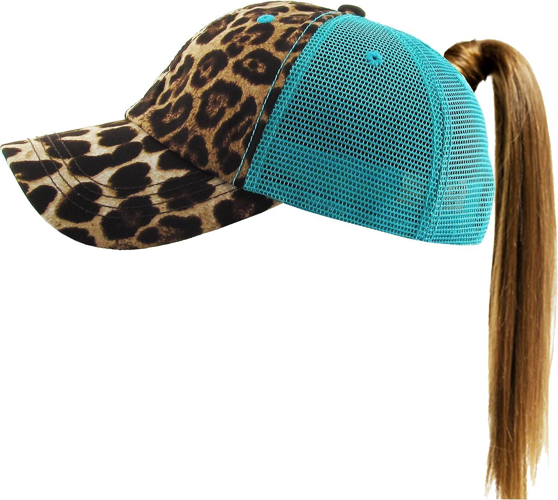 KBETHOS Glitter Designed Leopard Ponytail Hat Baseball Caps for Women  Cotton and Mesh Trucker Better Made ... 57b041b4fd