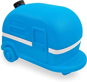 Amazon Com Camco Blue Retro Camper Rv Sewer Weight Safely Secures Your 4 In 1 Adapter In Place At Dump Stations Features A Fillable Tank And Reflective Tape 43101 Automotive