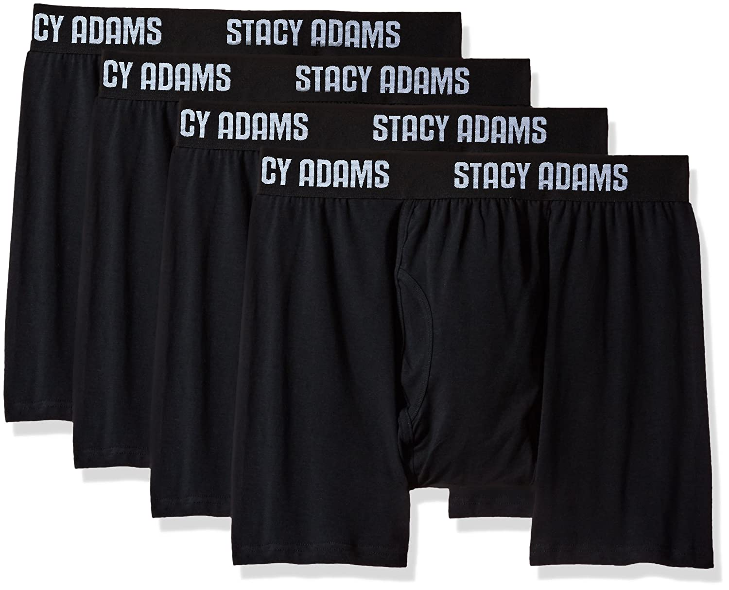STACY ADAMS Mens 4pack Stretch Cotton Boxer Brief