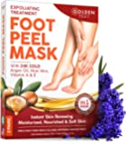 Foot Peel Mask - 2 pack - Make Your Feet Baby Soft - Dry Dead Skin Exfoliating Callus Remover - Peeling Masks with 24K…