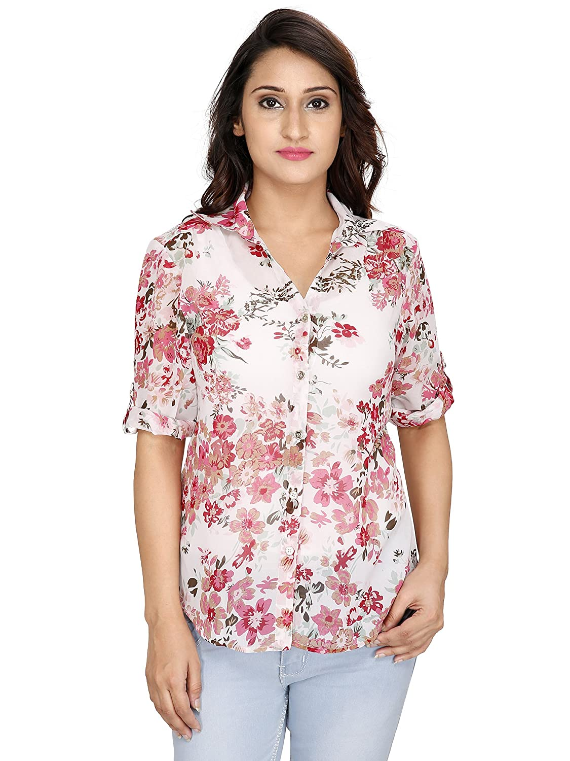 2Day Women's Georgette Printed Top