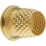 Lacis RQ62 16MM Open Top Tailor's Thimble, 16mm, Brown