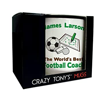 Worlds Best Football Coach Geschenk Tasse Personalisierte
