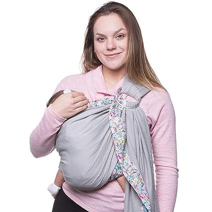 e1ee7362e315 Echarpe de transport 100% coton bébé Sling Carrier pour 0–18 mois les tout