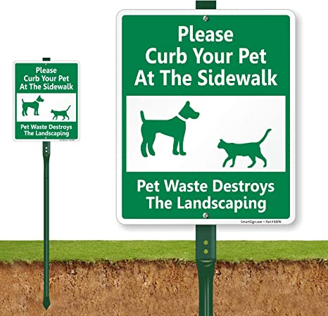 """Please Clean Up After Your Pet Sign .040 Rust Free Aluminum 10/""""x14/"""""""