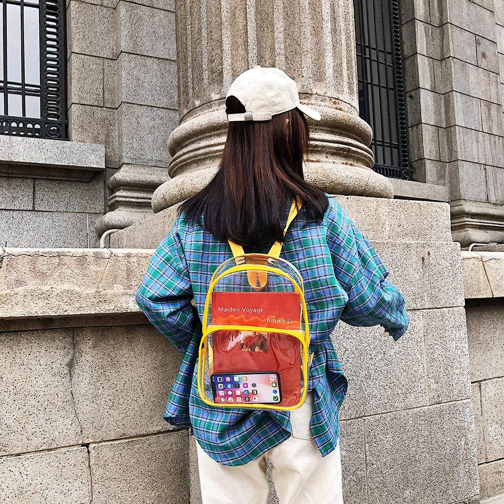 HCFKJ Mujeres Transparentes Vers/áTiles Lentejuelas Moda Multiusos Bolso Mochila