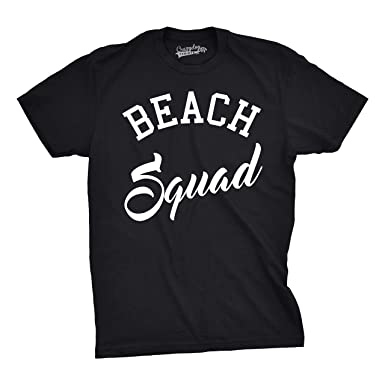 Amazon.com: Mens Beach Squad Funny T shirts Summer Awesome Tees ...