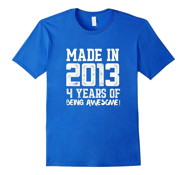 4th Birthday Shirt Gift Age 4 Year Old Boy Girl Tshirt Tee ANZ