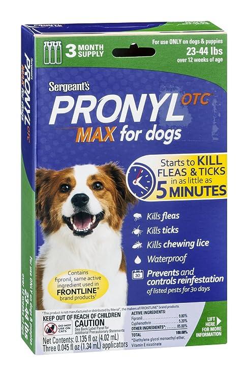 Amazon.com: Sargento de pronyl OTC, para perros (23 – 44 Lb ...