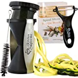 Spiral Slicer Spiralizer Complete Bundle - Vegetable Spiralizer and Cutter - Zucchini Pasta Noodle Spaghetti Maker