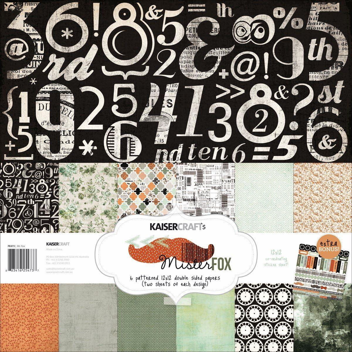 """12 sheets Kaisercraft Bon appetit Collection 12/"""" X 12/"""" bonus sticker sheet"""