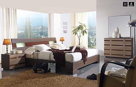dark brown bedroom set. ESF 112 Dark Brown Wood Finish Queen Size Bedroom Set Amazon com
