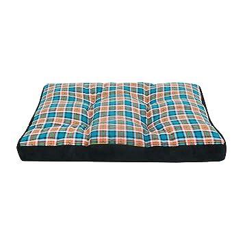 E-starain Cama para Perros Gota para Mascotas Animal del Perrito Sofa del Pieles de venado Acolchada Cómodo Azul 110 * 80 * 10cm: Amazon.es: Productos para ...