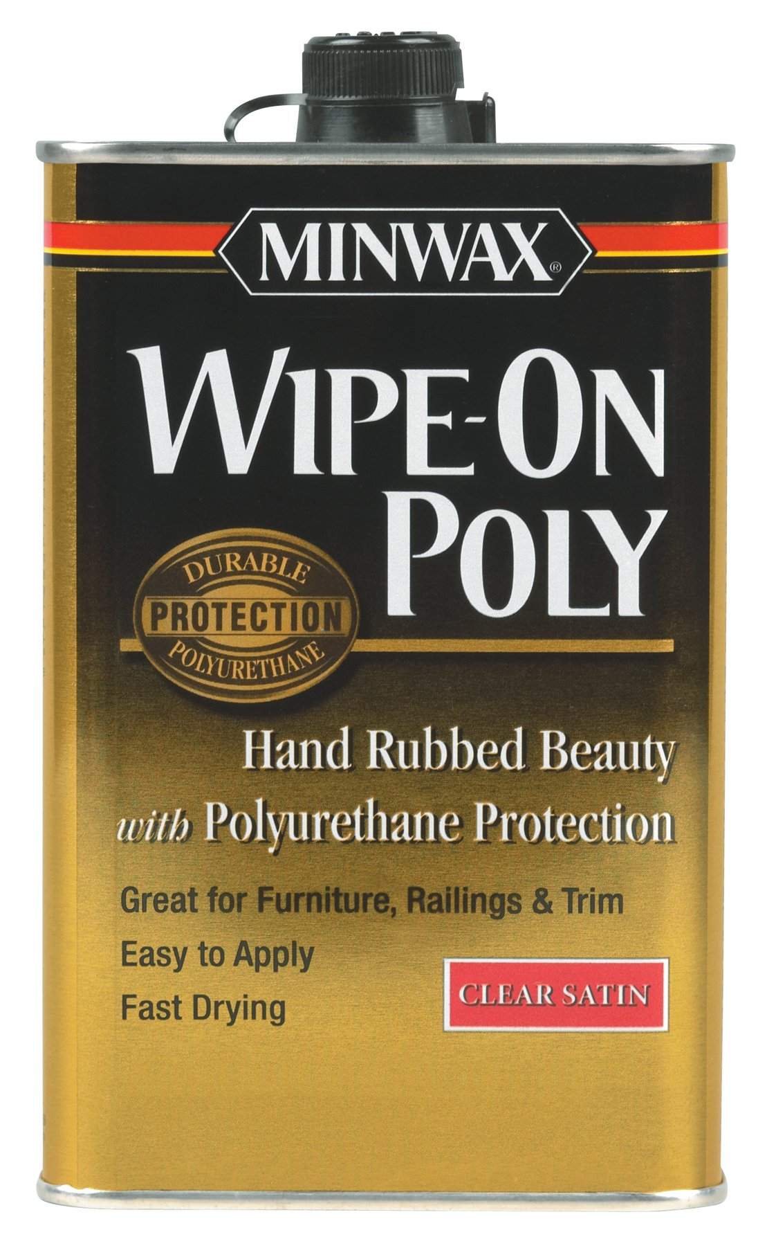 Minwax 40910000 Wipe-On Poly Finish Clear, pint, Satin