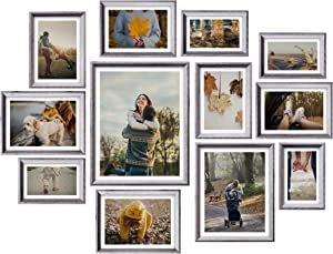 Homemaxs 12 Pack Picture Frames Collage, Collage Picture Frames For Wall and Home, Collage Frame With One 11x14 in, One 8x10 in, Four 5x7 in, Four 4x6 in, Two 6x8 in