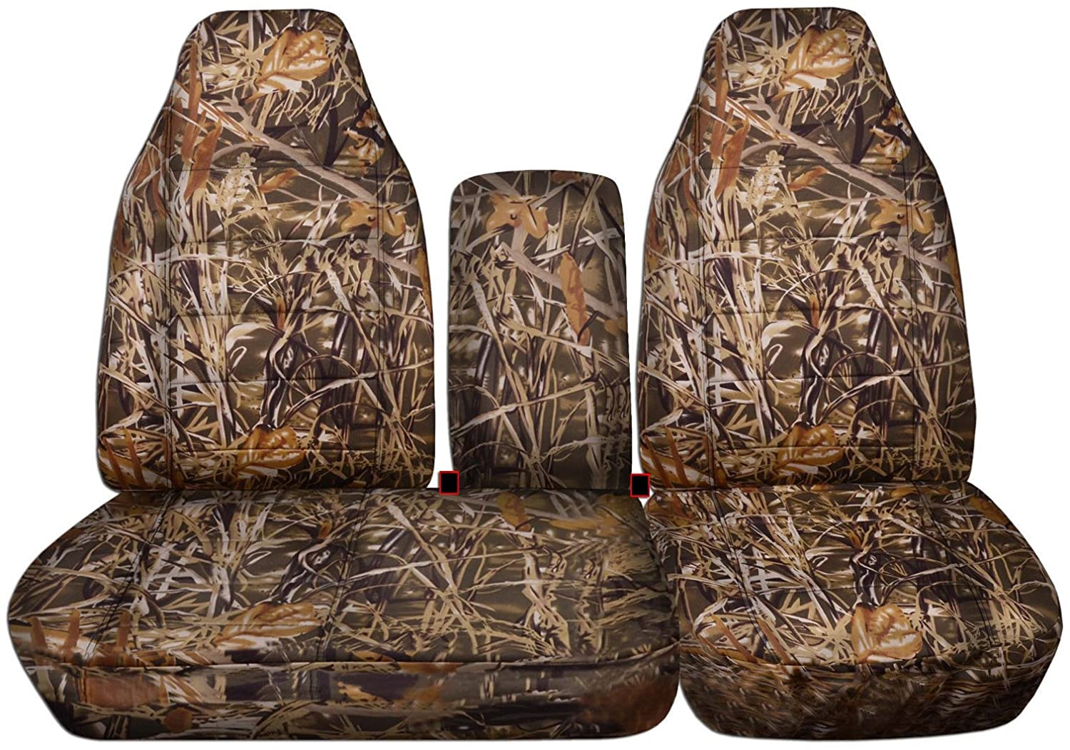 Front 40//60 Split Bench with Opening Center Console//Solid Armrest: Wetland Camouflage Totally Covers Fits 1997-2000 Ford F-150 Camo Truck Seat Covers 1998 1999 F-Series F150 16 Prints