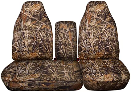 Remarkable 1997 2000 Ford F 150 Camo Truck Seat Covers Front 40 60 Split Bench With Opening Center Console Solid Armrest Wetland Camouflage 16 Prints 1998 Machost Co Dining Chair Design Ideas Machostcouk