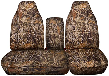 Miraculous Totally Covers Fits 2001 2003 Ford F 150 Camo Truck Seat Covers Front 40 60 Split Bench W Console Molded Adjustable Headrests W Wo Integrated Lamtechconsult Wood Chair Design Ideas Lamtechconsultcom