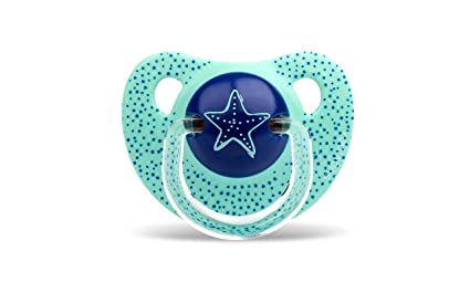 Suavinex Estrella In The Sea - Chupete 6-18 meses, látex, color azul