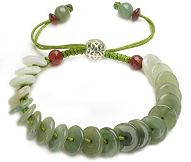 bracelet stretch faceted exquisite itm jade green vintage beads bangle gemstone