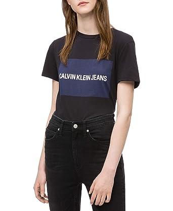 2e5d7720ca0e Calvin Klein womens Short Sleeve T-Shirt Institutional Logo, black, XS