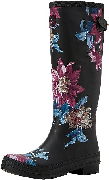 Joules Damens's X AJUSTA Wellington Stiefel, 37 (schwarz Clematis), 4 UK 37 Stiefel, ... a3d577