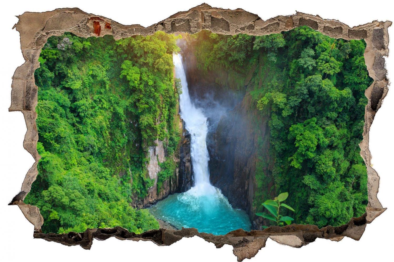 Wasserfall Natur Fluss Wandtattoo Wandsticker Wandaufkleber D0376 Größe 120 cm x 180 cm