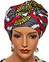 African Head Wrap Tribal Scarf Gele. Stylish Headgear Made Of Ankara Square Fabric